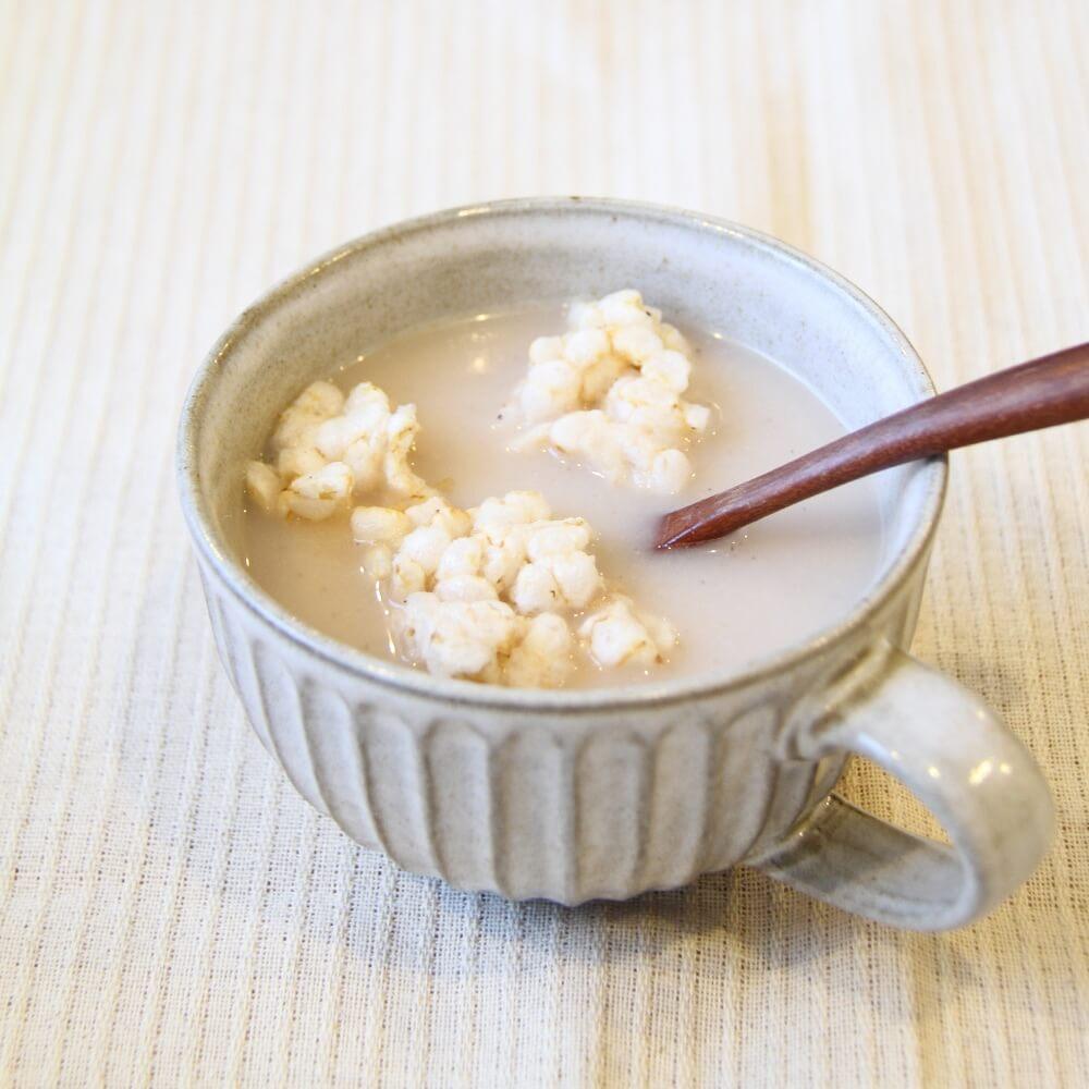 スープにいれて玄米粥のようにしても。