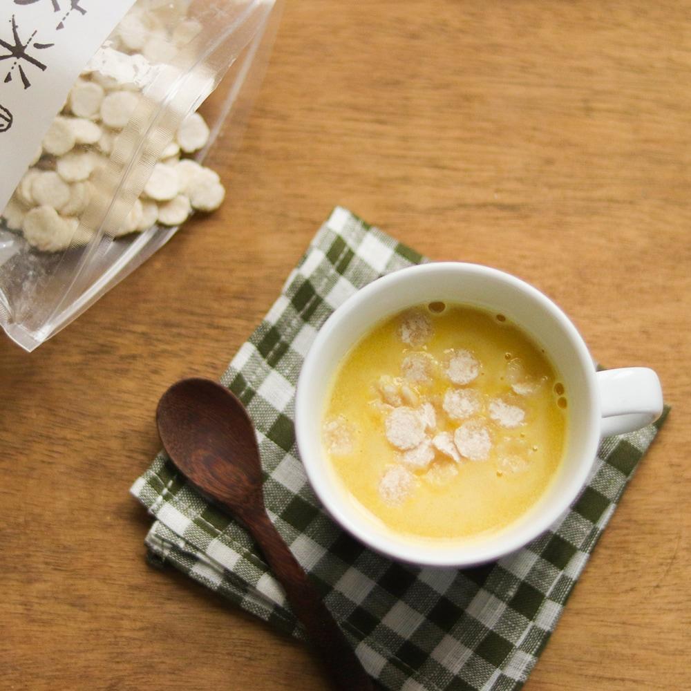 スープに入れたり。