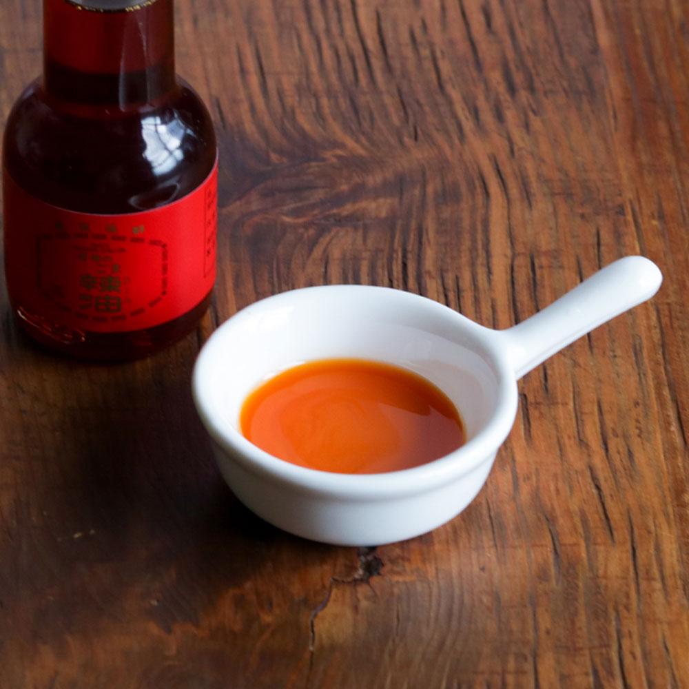 胡麻油の風味と唐辛子の辛み