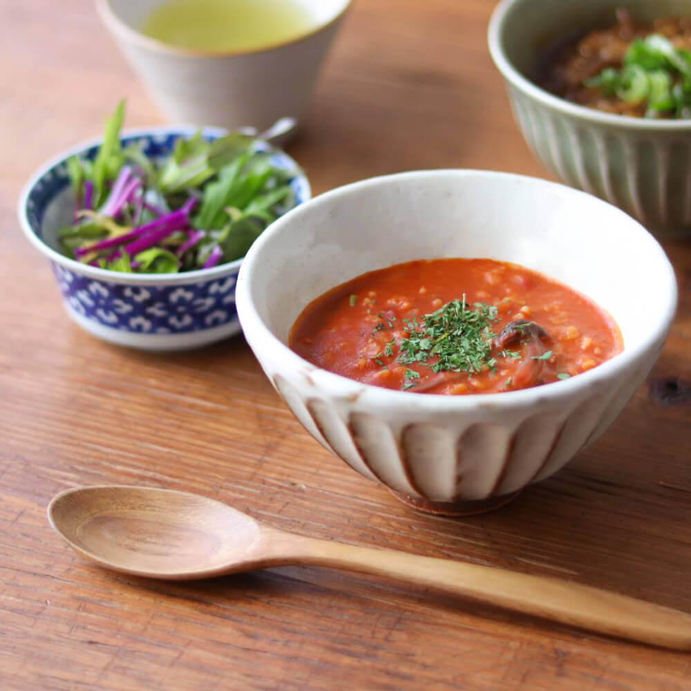 マスカルポーネチーズの玄米トマトリゾット。