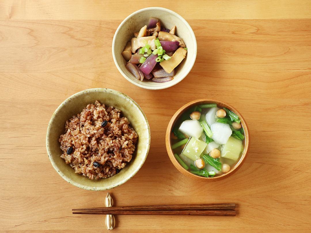 【二十四節気の一汁】穀雨「かぶとひよこ豆の塩こうじ生姜スープ 」