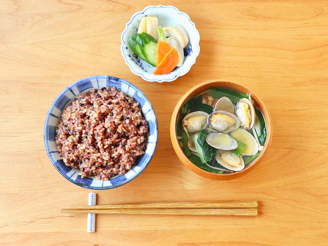 【二十四節気の一汁】立夏「あさりと小松菜の柚子胡椒だしスープ」