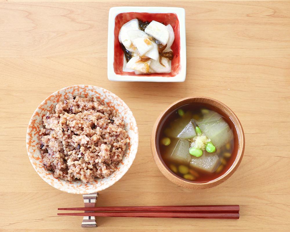 【二十四節気の一汁】大暑「冬瓜と枝豆のとろみしょうゆ汁 」