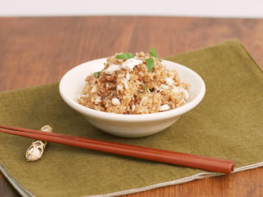 寝かせ玄米鯛めし|いろは 仙台アンダンチ店の給食レシピ