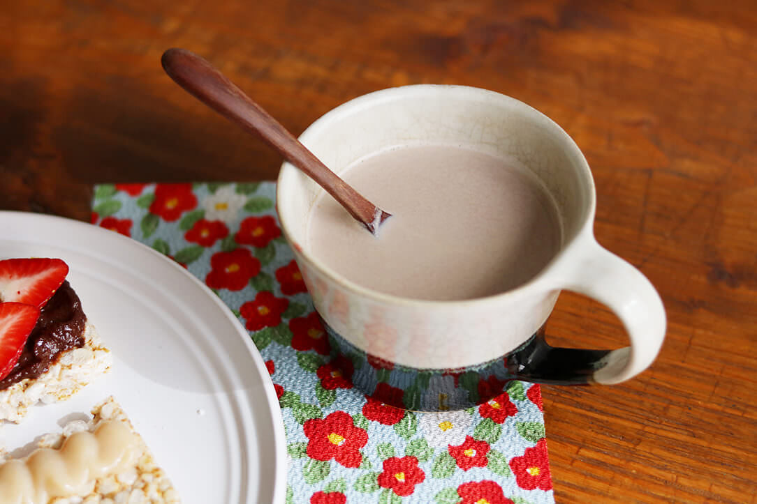 ショコラほうじ茶豆乳ラテ