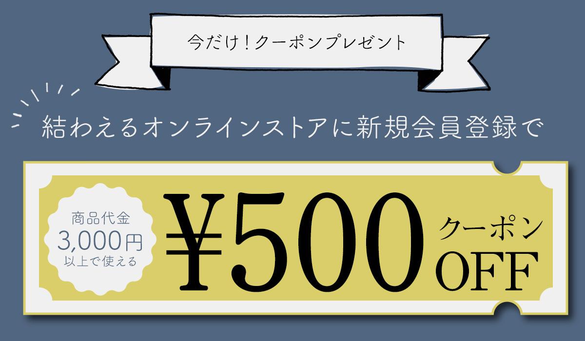 新規会員登録で【500円クーポン】プレゼント!