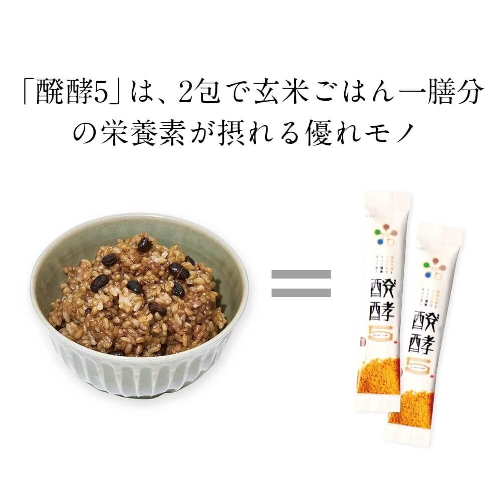 1回2包で玄米ごはん一膳分の栄養素が摂れる優れモノ!