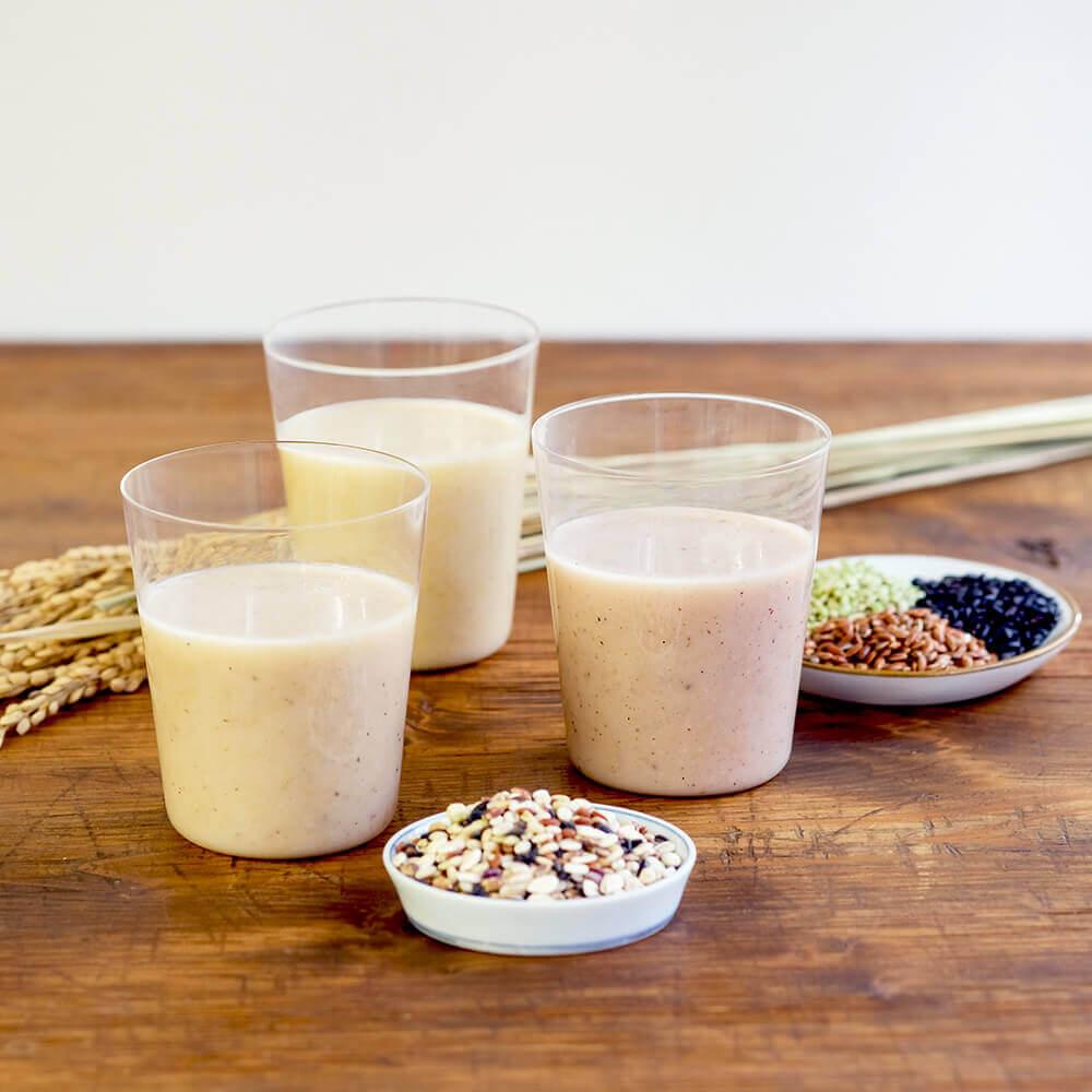 玄米糀甘酒は三種類!ぜひ、飲み比べてみてください。