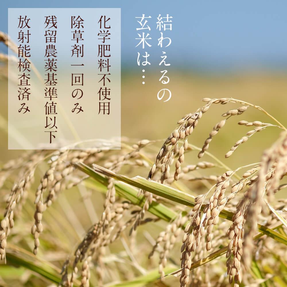 結わえるの玄米は、契約農家さんが丁寧に育てています。