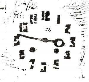 Patina哲学第八回版画タイトル:アンティーク時計