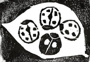 Patina哲学第九回版画タイトル:天道虫