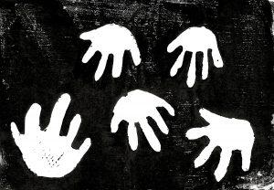 Patina哲学第十回版画タイトル:いろんな手