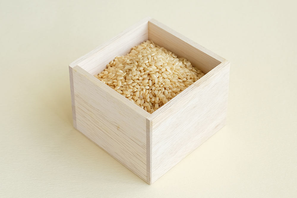 升に入った玄米のイメージ