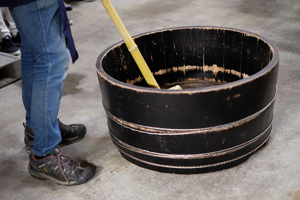 柿渋の塗られた桶