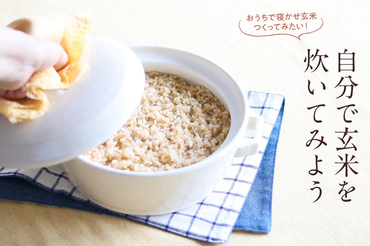 自分で玄米を炊いてみよう