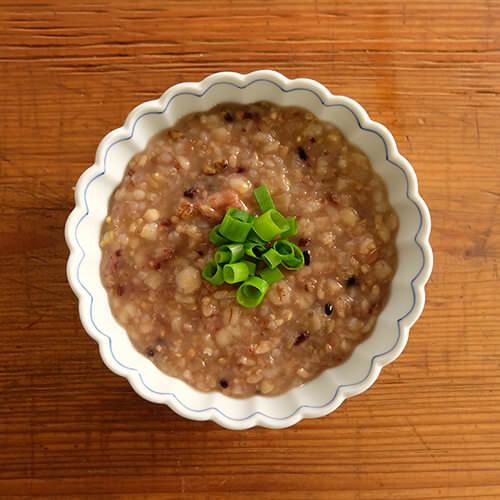 玄米と十五穀のレンコン鶏雑炊